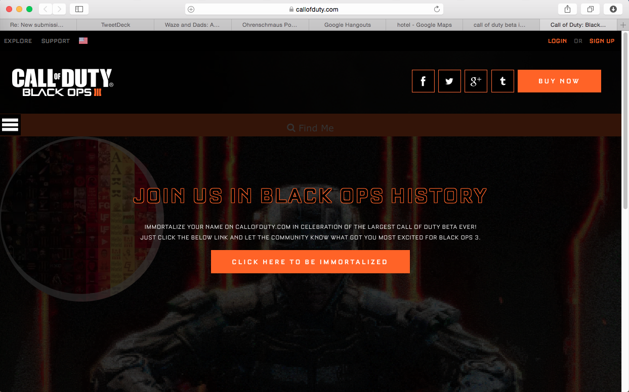 Activition's Call of Duty: Black Ops 3 UGC Campaign