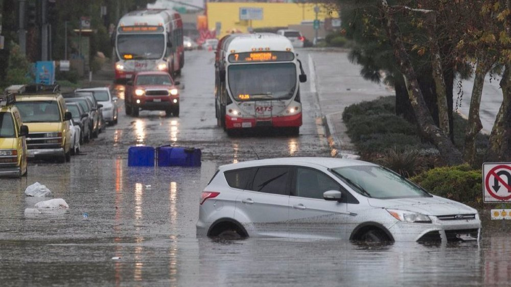 Flooded roadways can fill up suddenly and create dangerous driving conditions. Never attempt to pass through deep standing water.