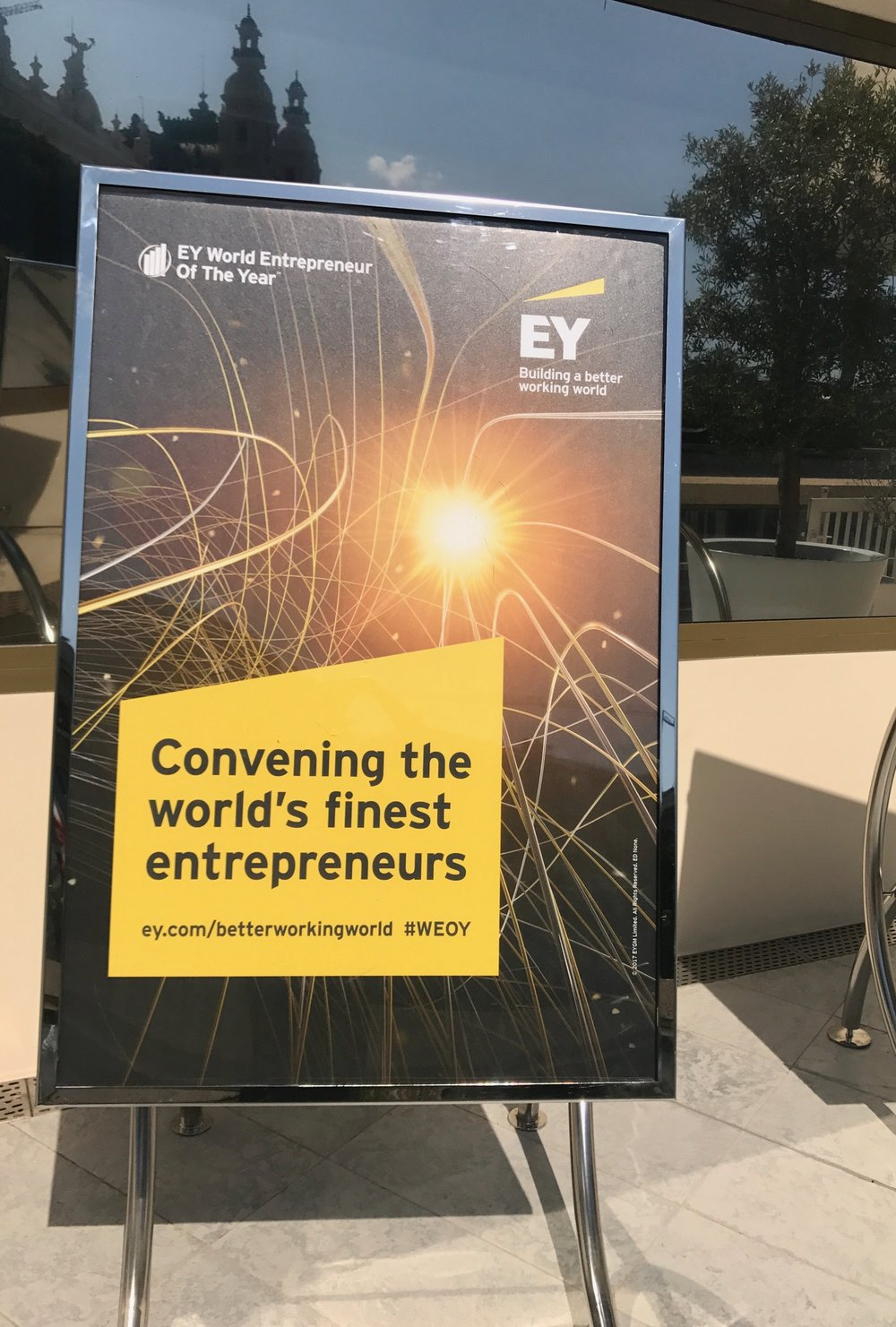 World Entrepreneur of the Year Signage