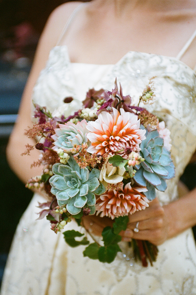 Bridal Bouquet w/ Succulents