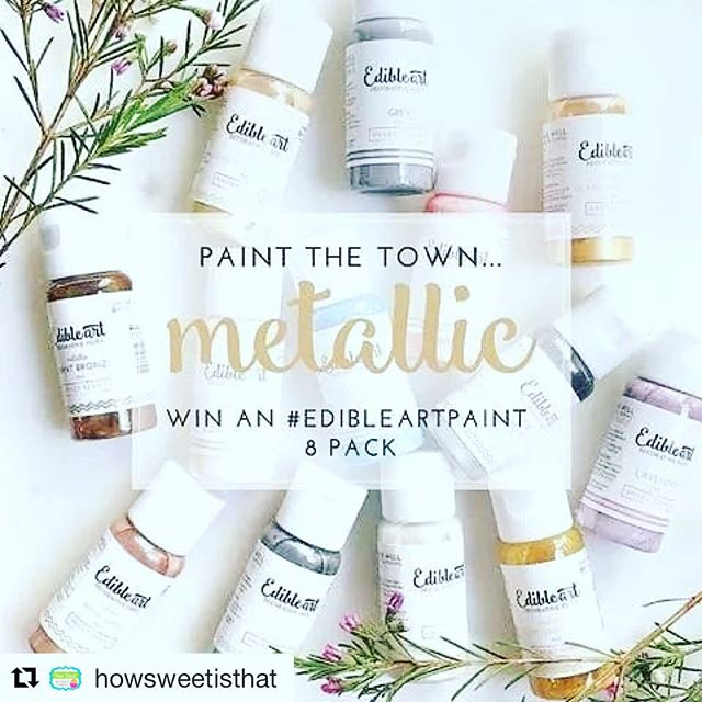 Sherry is literally the best and has the best cookie supplies!!! #Repost @howsweetisthat (@get_repost) ・・・ I promised another give away this weekend and here it is!  It's for this gorgeous set of 8 Metallic Edible Art Decorative Paints. It's so easy to enter.  Just follow me, repost on your own page including the give away information (I have to be able to verify you have reposted at draw time) and use the hashtag #howsweetedibleartpaint. Random draw will be next Sunday afternoon.  Good luck everyone! Limited to Canada and USA only. #howsweetisthat #giveaway #edibleartdecorativepaints #howsweetedibleartpaint