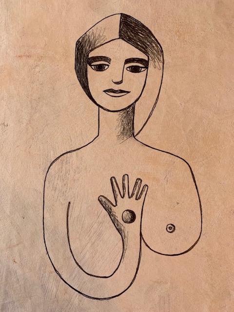 Michela Martello, Outsider, 2002, graphite on paper, 10 x 12 inches