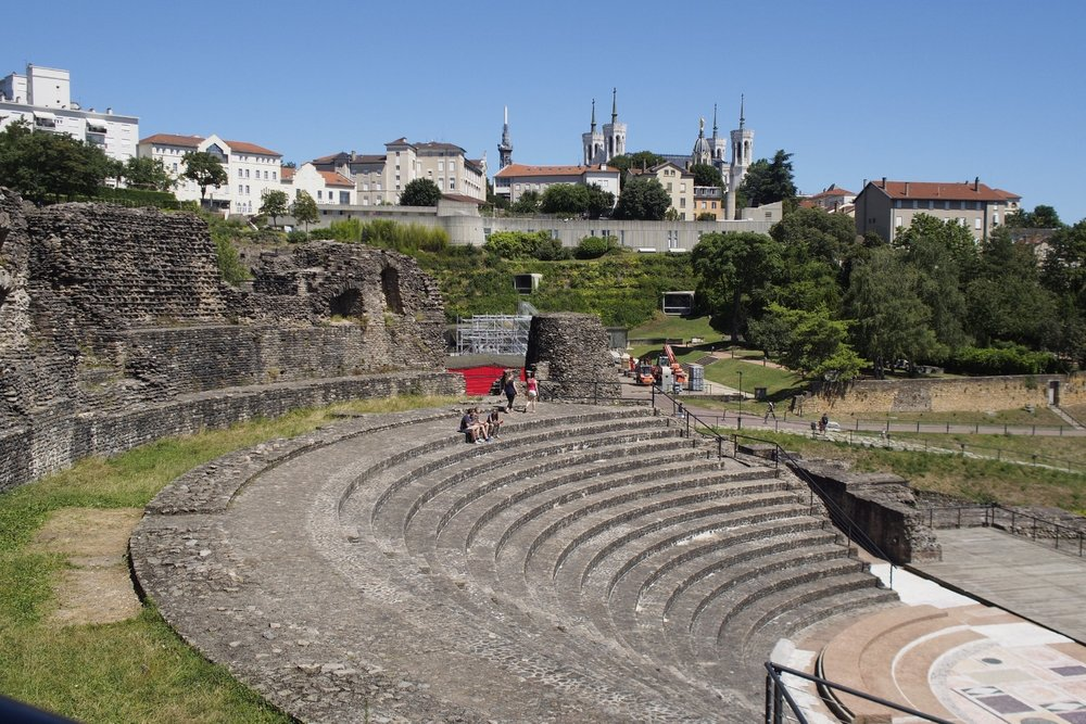 The Roman amphitheaters are carved into the hillside and restored as venues for performing arts.
