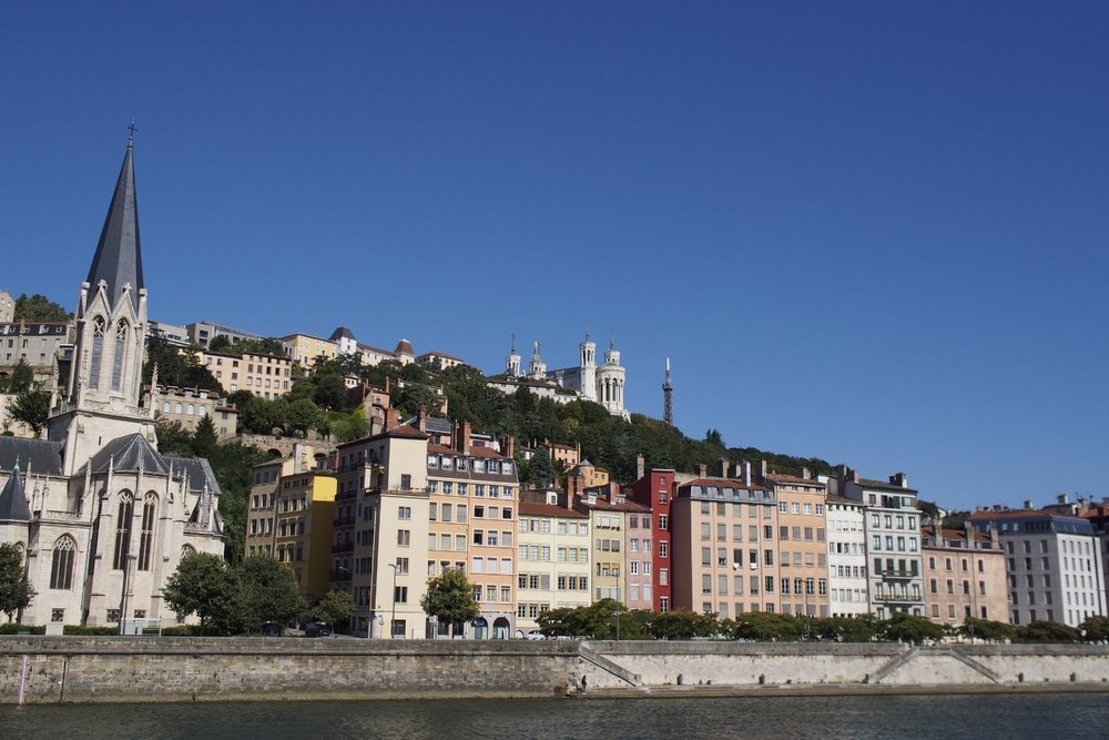 The Basilica of Notre-Dame de Fourvière sits atop the hill which is the oldest part of the city.