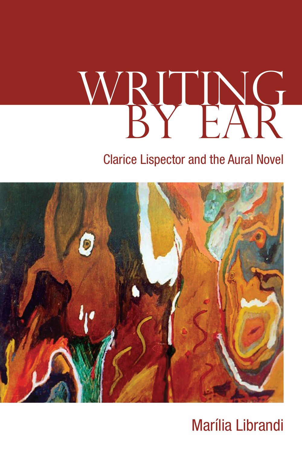 "- pre order: https://utorontopress.com/us/writing-by-ear-2Series: University of Toronto Romance SeriesConsidering Brazilian novelist Clarice Lispector's literature as a case study and a source of theory, Writing by Ear presents an aural theory of the novel based on readings of Near to the Wild Heart (1943), The Besieged City (1949), The Passion According to G.H.(1964), Agua Viva (1973), The Hour of the Star (1977), and A Breath of Life (1978).What is the specific aesthetic for which listening-in-writing calls? What is the relation that listening-in-writing establishes with silence, echo, and the sounds of the world? How are we to understand authorship when writers present themselves as objects of reception rather than subjects of production? In which ways does the robust oral and aural culture of Brazil shape literary genres and forms? In addressing these questions, Writing by Ear works in dialogue with philosophy, psychoanalysis, and sound studies to contemplate the relationship between orality and writing.Citing writers such as Machado de Assis, Oswald de Andrade and João Guimarães Rosa, as well as Mia Couto and Toni Morrison, Writing By Ear opens up a broader dialogue on listening and literature, considering the aesthetic, ethical, and ecological reverberations of the imaginary. Writing by Ear is concerned at once with shedding light on the narrative representation of listening and with a broader reconceptualization of fiction through listening, considering it an auditory practice that transcends the dichotomy of speech and writing, and it can be considered part of a ""listening turn"" in literary studies."