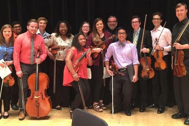 Alumni performing at the 2015 SRO@Orchestra Hall event.