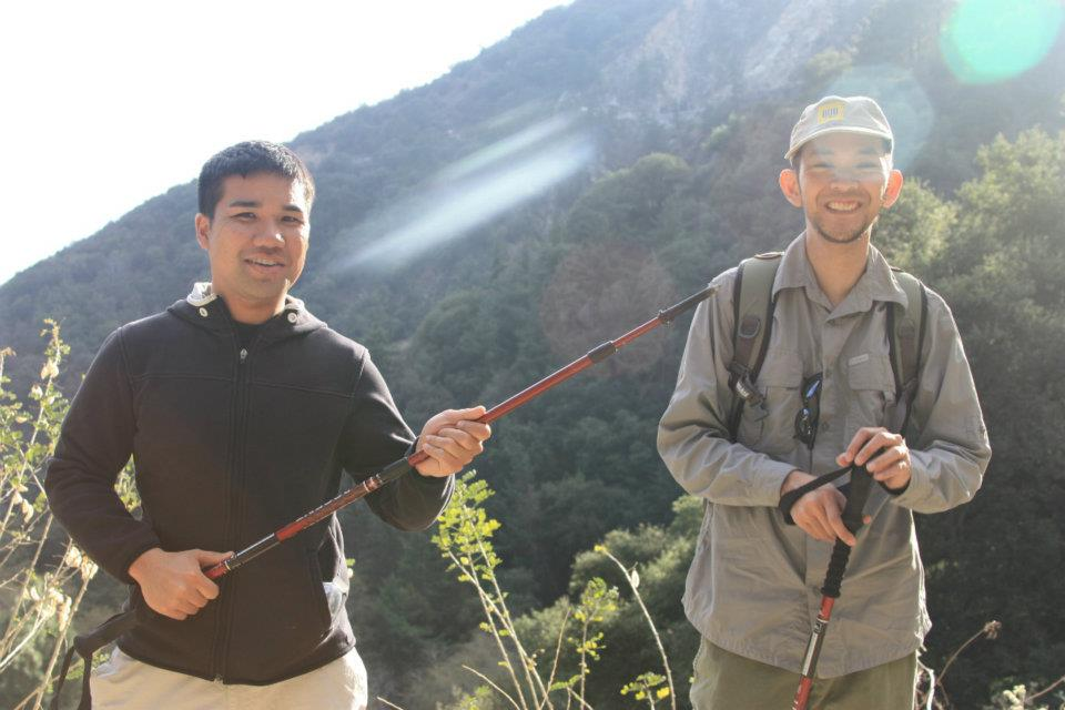 Here I am learning about what the trekking poles are actually NOT used for.