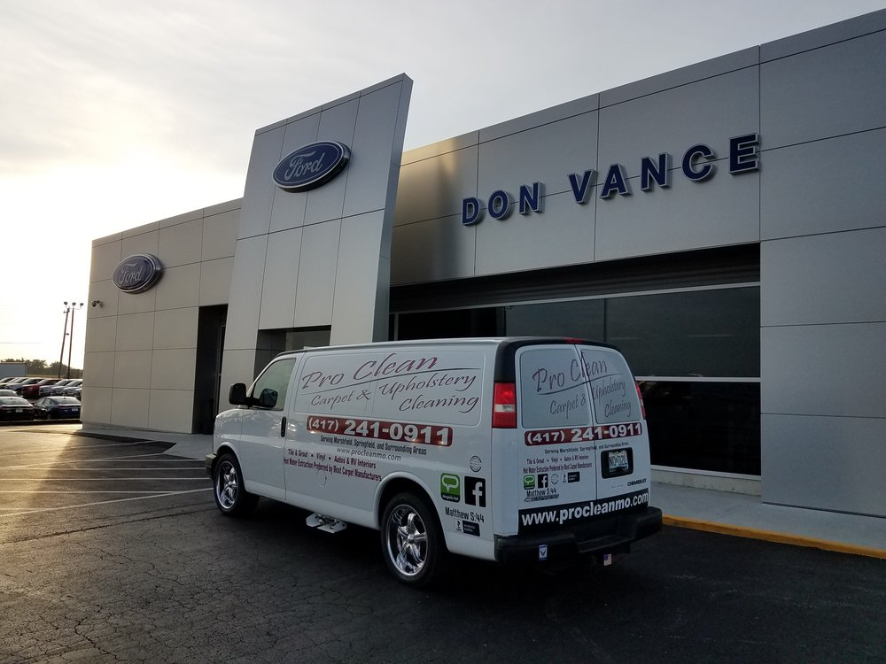 Don Vance Ford Marshfield Mo >> Thank You Don Vance Ford Pro Clean Carpet Upholstery