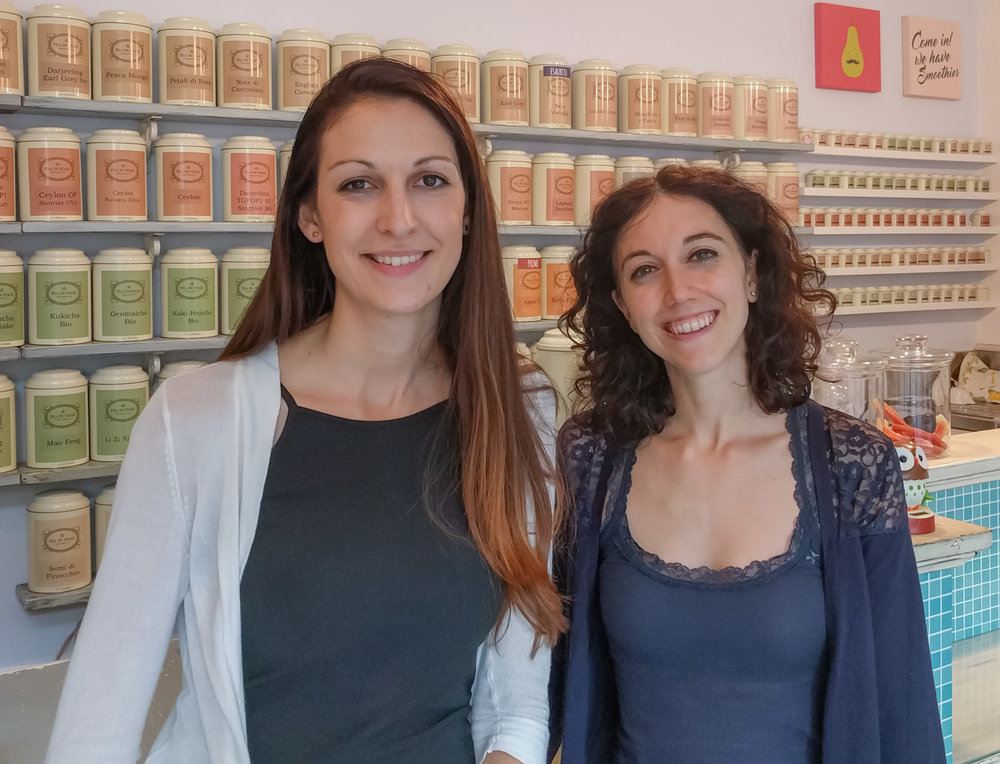 Anna and Carlotta at Tea In Italy, Varese