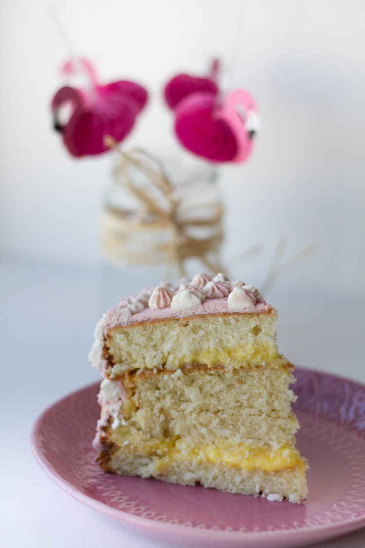 A Pink Tea Infused Birthday Cake The Tea Squirrel