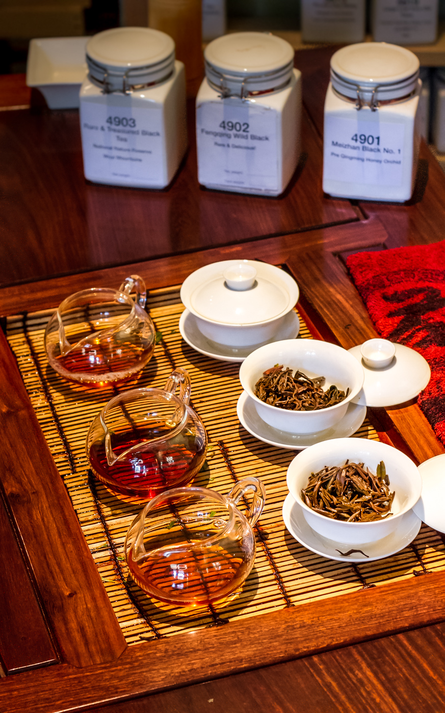 Tea tasting, black teas at The Phoenix Collection