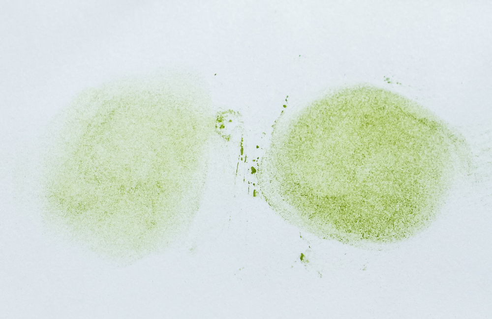 Texture evaluation, on the left, Saemidori. On the right, Okumidori.