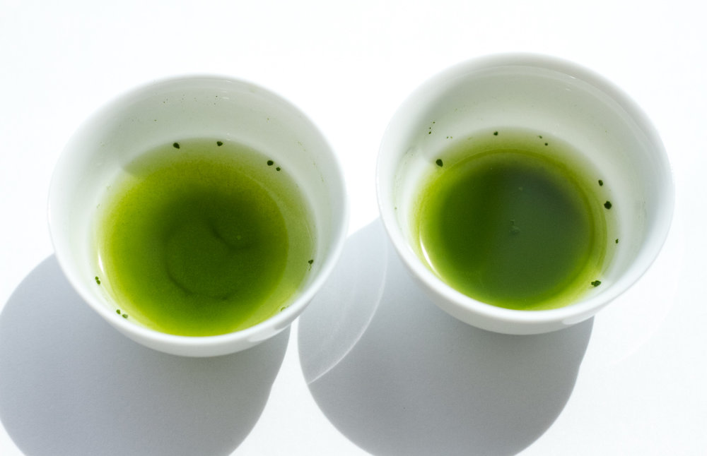 On the left, Saemidori. On the right, Okumidori.