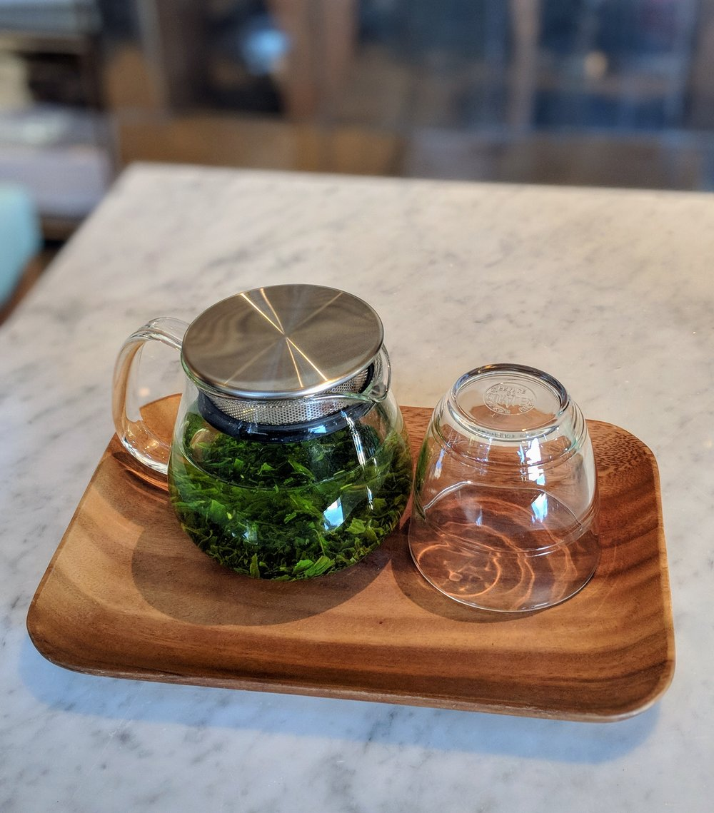 Sencha tea at Cafe Réveille