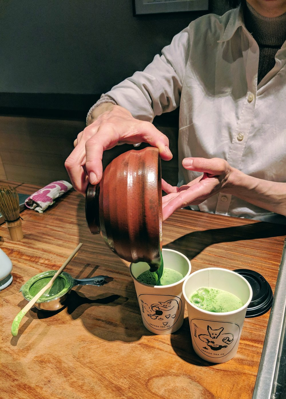 Hot usucha matcha at Ippodo, NYC.