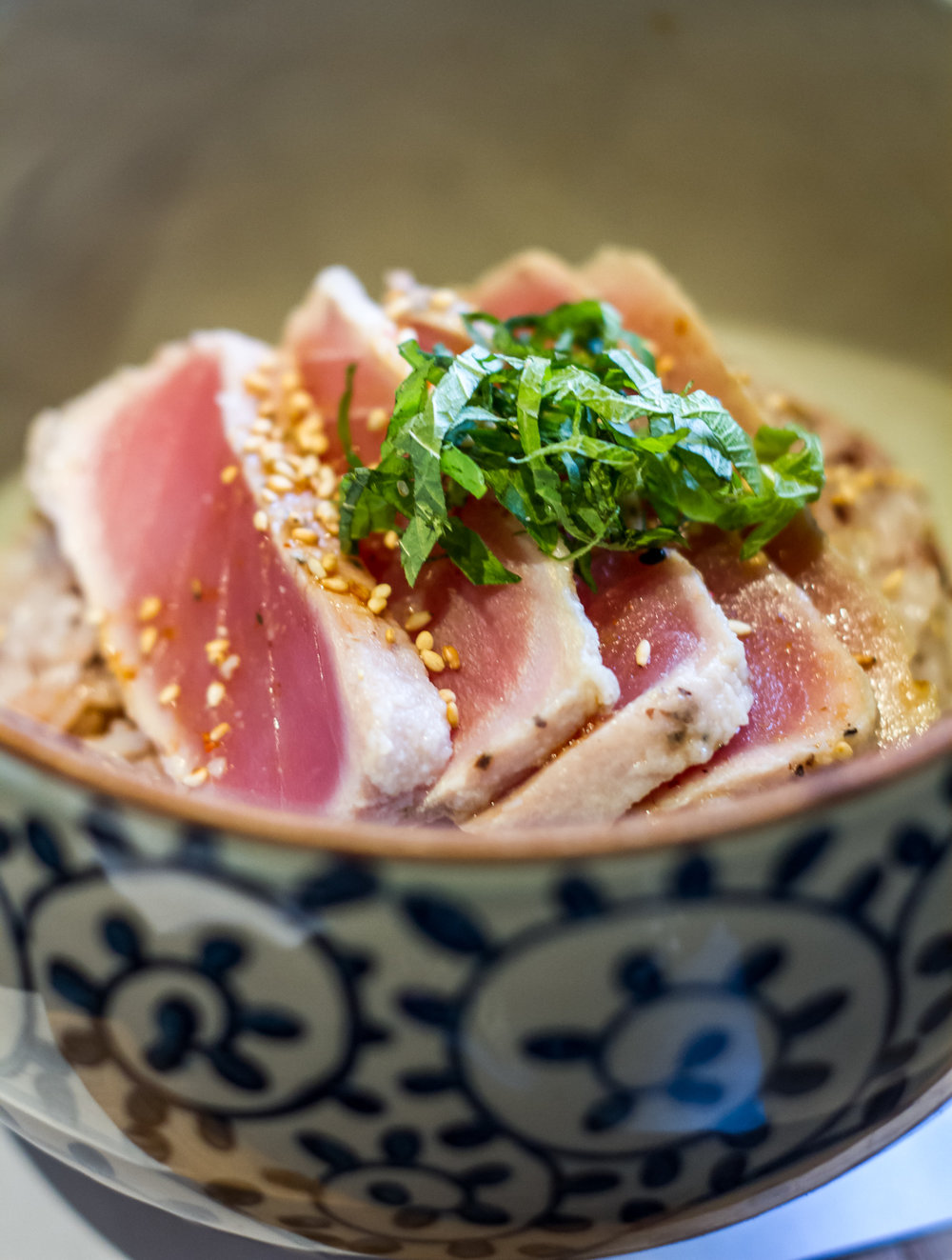 Tuna tataki at Cha An Tea House in NYC