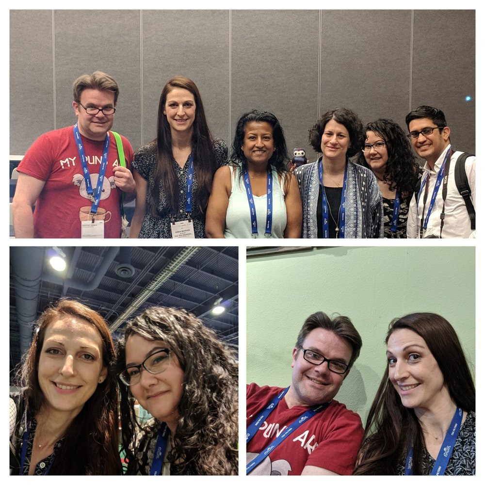 Some of the panelists: (from top right) Ricardo Caceido, Charissa Gascho, Sara Shacket, Rachel Carter, myself and Geoffrey Norman. (Bottom left) The Tea Squirrel and Oolong Owl. (Bottom right) The Lazy Literatus and myself.