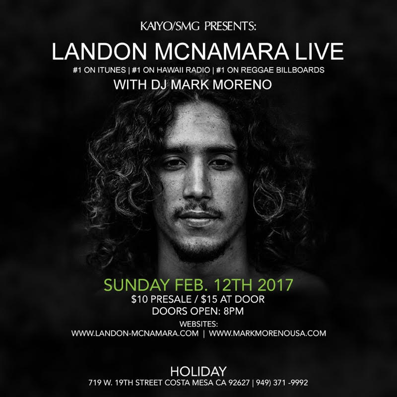 Landon McNamara Live w/ DJ Mark Moreno! Sunday Feb 12th  Buy tickets Here:  https://www.eventbrite.com/e/landon-mcnamara-wdj-mark-moren…   #1 iTunes - #1 Billboard Reggae Album  The perfect Valentine's date   #Reggae   #Valetines   #LandonMcNamara   #DJMarkMoreno