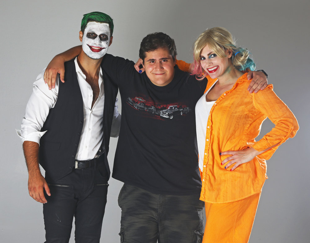 - Photographer Dino Petrocelli Jr in middleDave Anderson as Joker on leftMyself as Harley Quinn on right