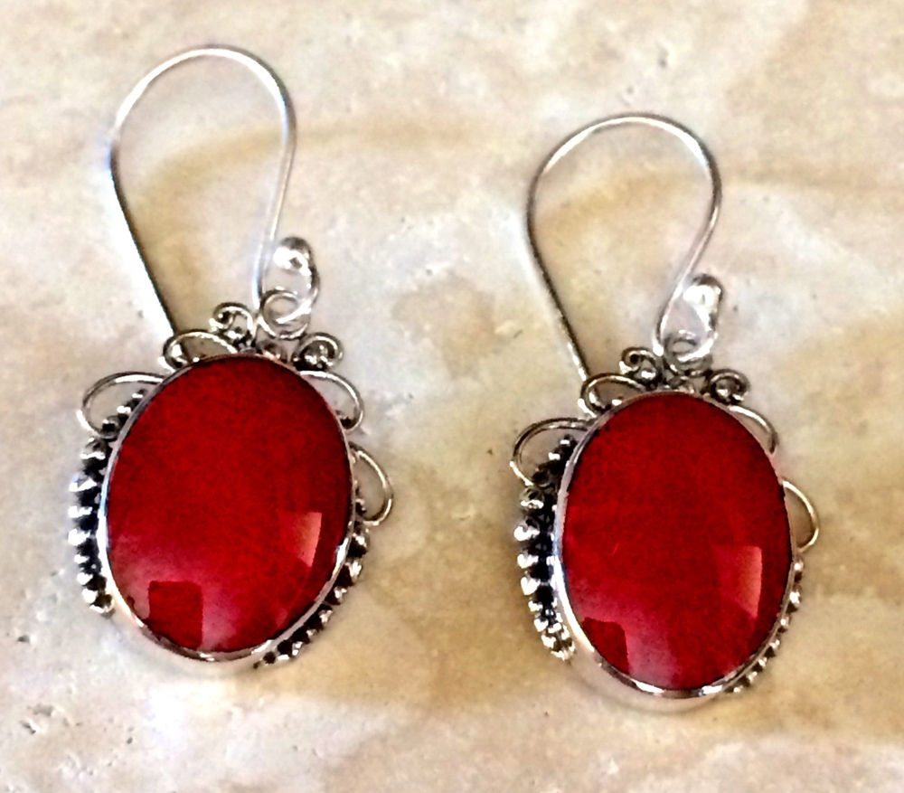 8a001a188 RED CORAL EARRINGS — Chantek Designs -