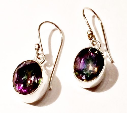 img earrings crystals product topaz sterling silver mystic inspirit faceted
