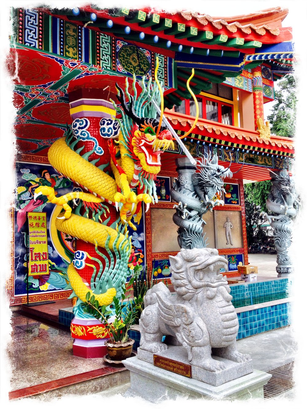 CHINESE TEMPLE IN CHAINGMAI THAILAND