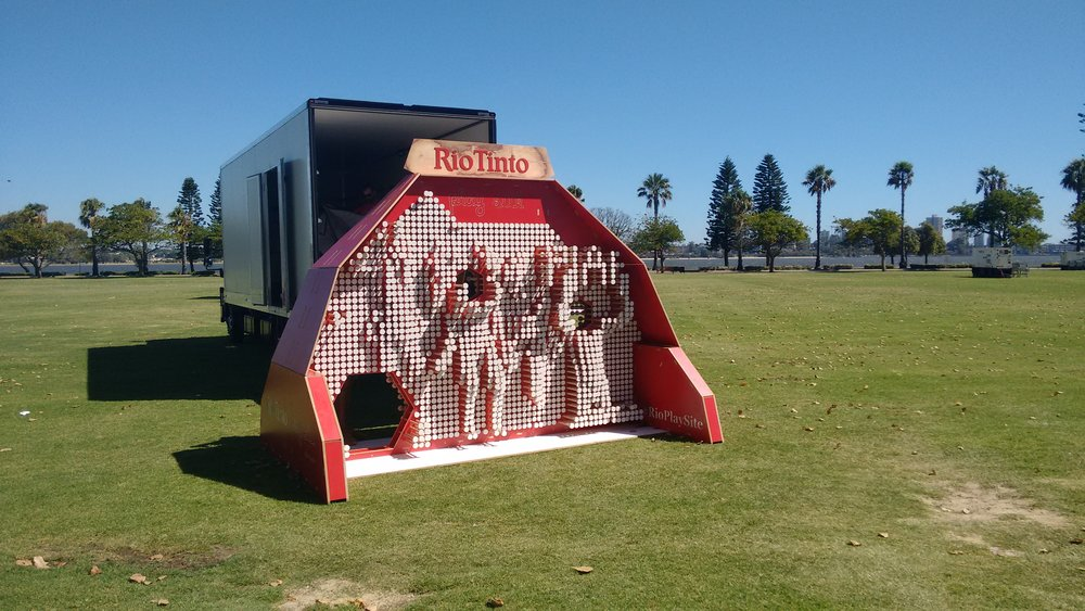 PROJECT PLAY SITE PIN WALL x Rio Tinto : Perth International Arts Festival 2016
