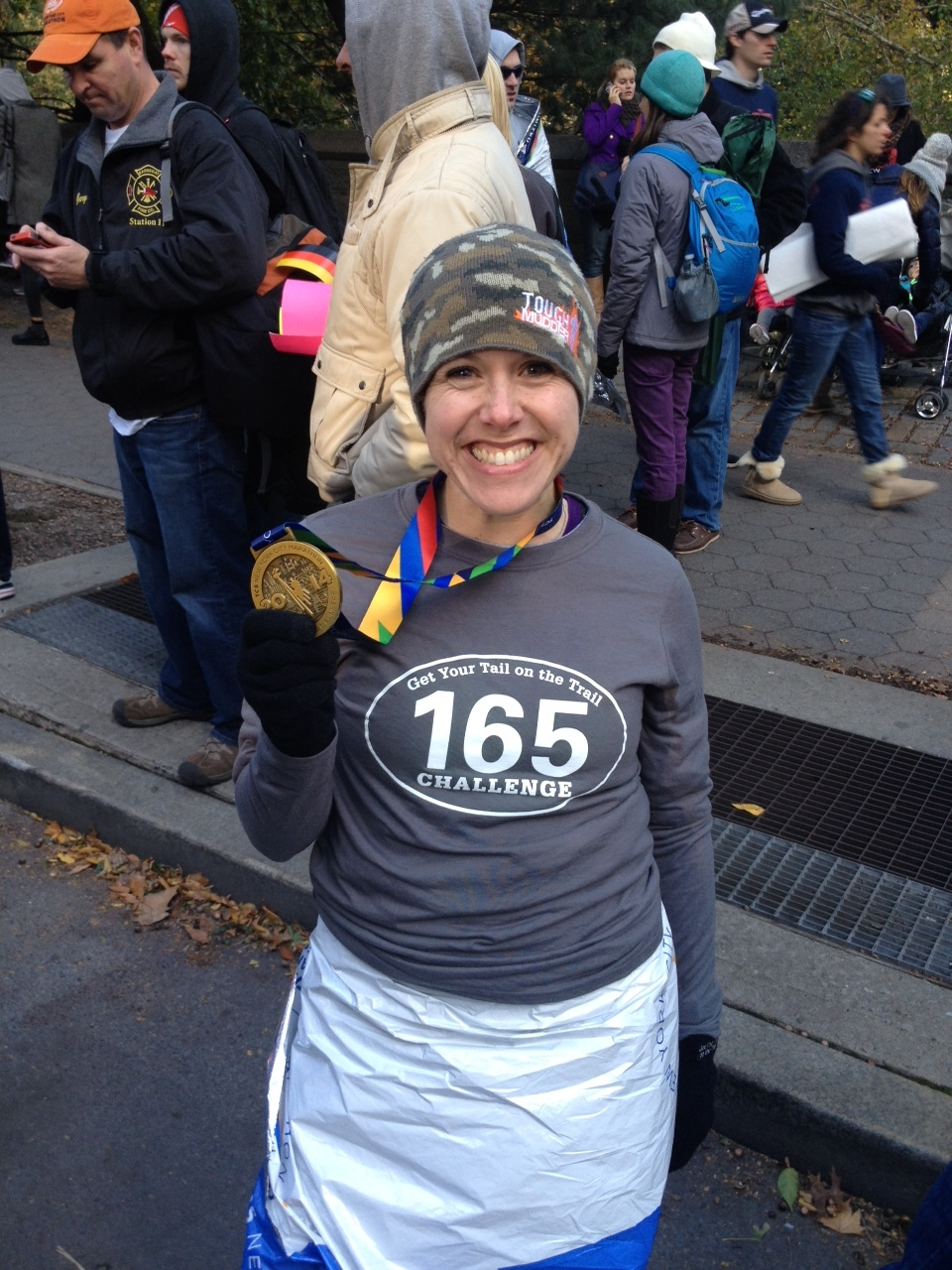 All smiles after a PR in the NYC Marathon.
