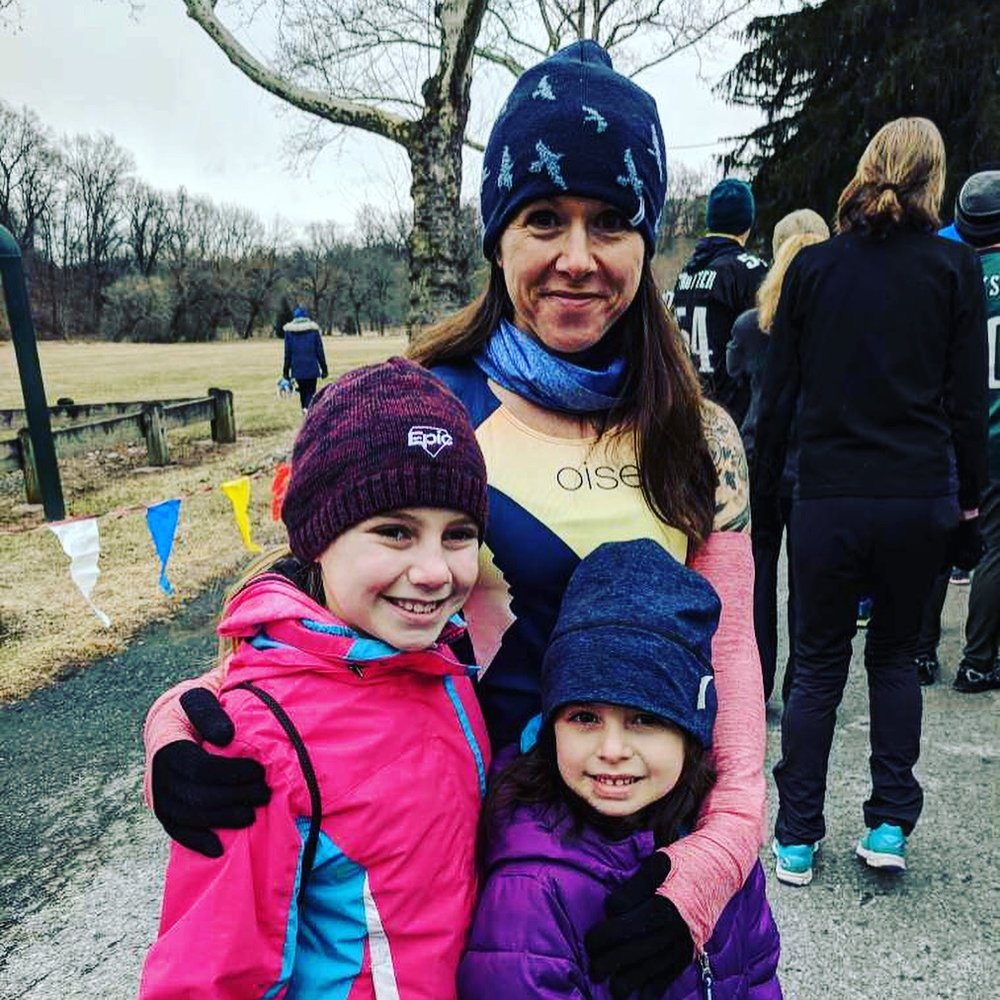 Pre-race pic with the girls, February 2018.