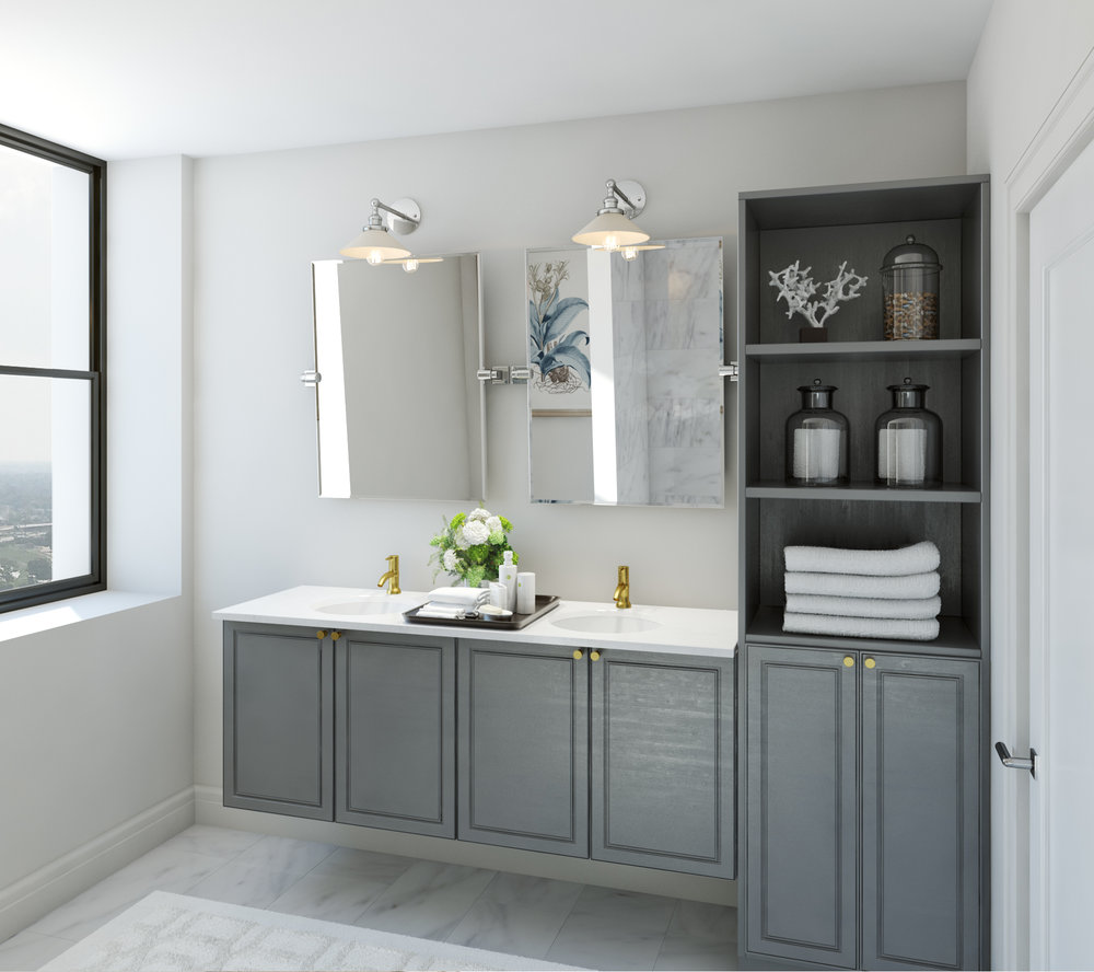 Interior Bathroom Rendering - Construction Project Manager