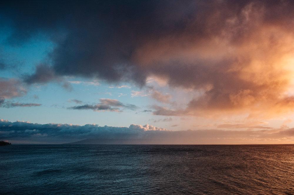 Merrimans Maui Wedding sunset