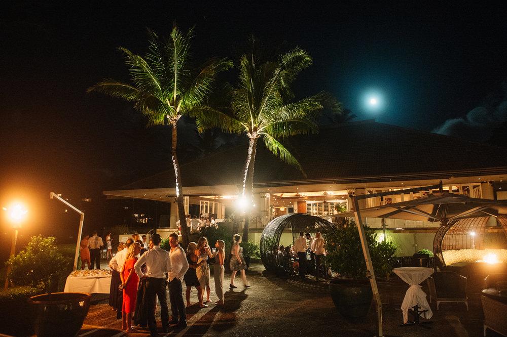Merrimans Maui Wedding reception