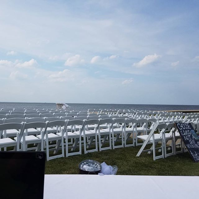 Outdoor wedding and reception today!
