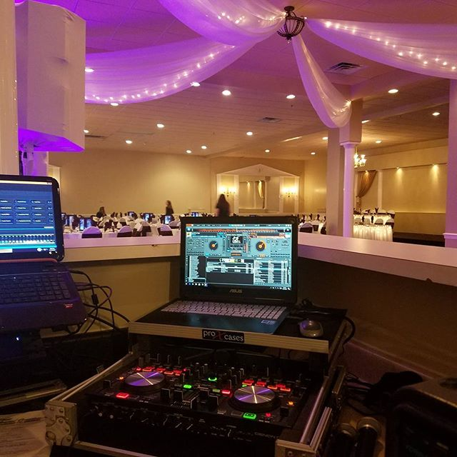Behind the hall's dj booth tonight!