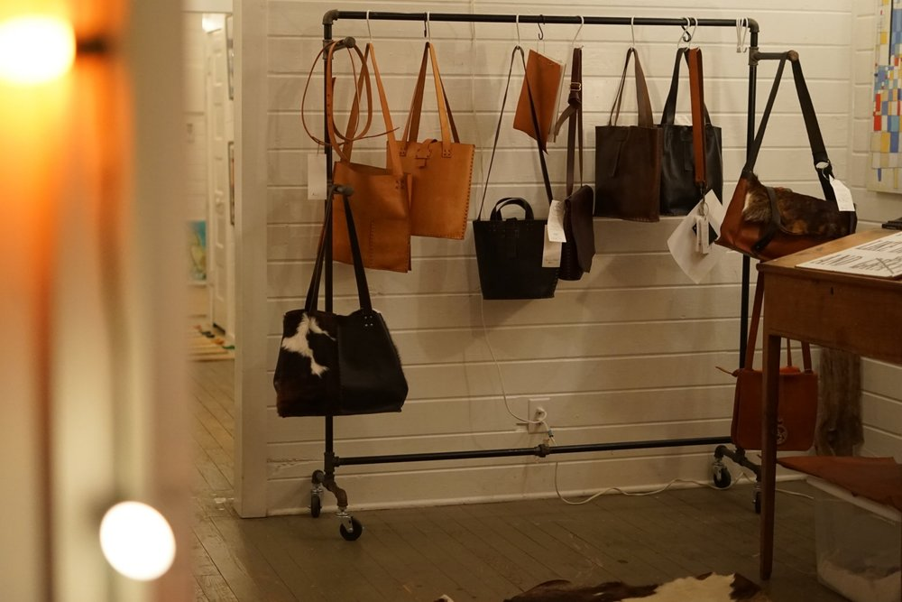 6. Biscuit Leather Company Goods - We share our retail space with the brilliant Biscuit Leather Company. So while you're shopping our art, you MUST checkout the high-quality, beautiful works by BLC owner/operator, Becky Stayner.