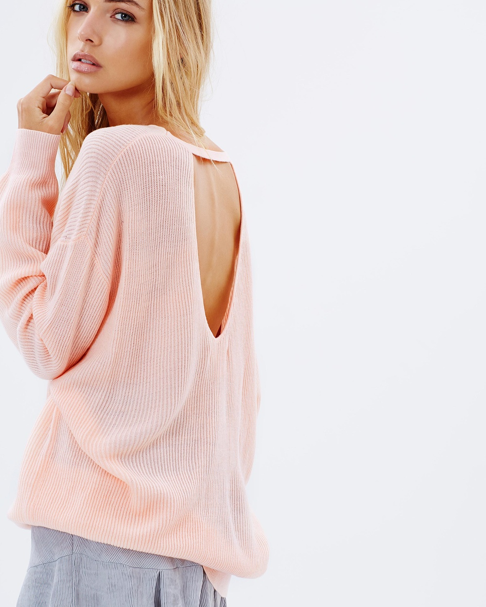 Lulu & Rose Lafayette scoop back knit $89.95