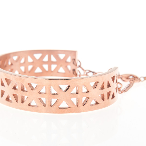 Carly Paiker rose gold Zellige cuff $85