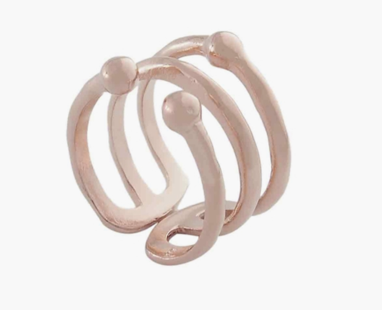 Nicole Fendel organic triple ball ring $99