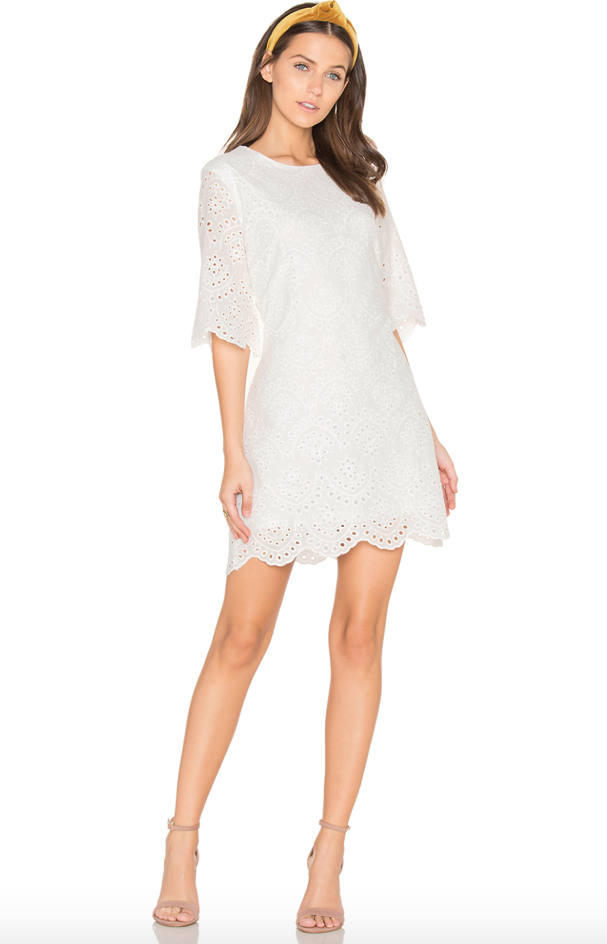 BIshop + Young scalloped mini dress $124
