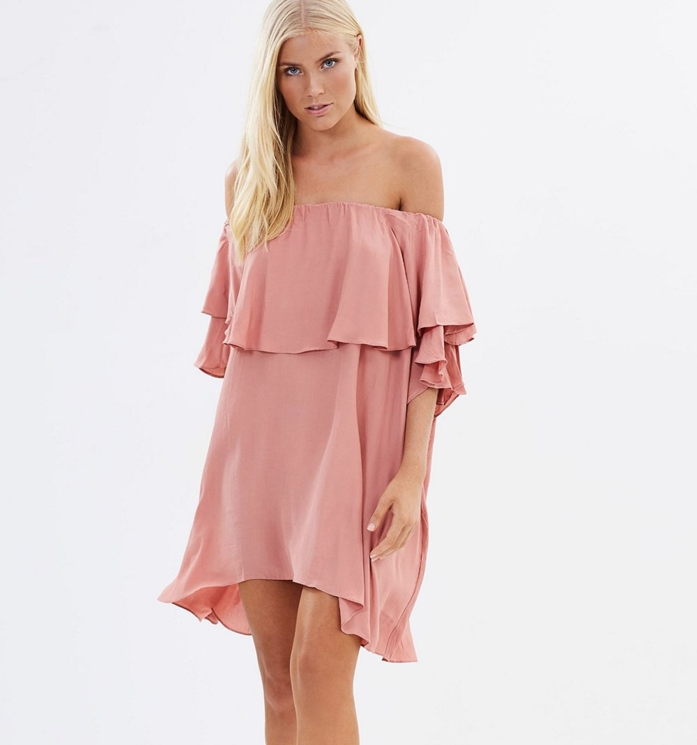 MLM marson shoulder dress $169
