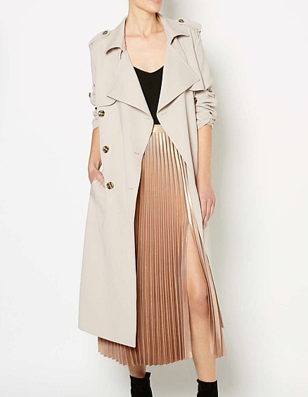 Witchery metallic split skirt $169.96