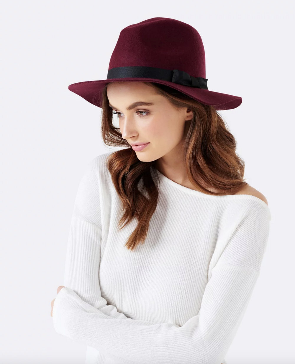 Forever New ruby fedora felt hat $44.99