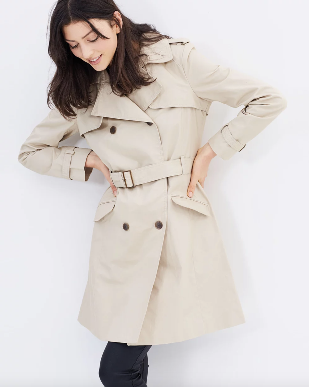 MNG central trench coat