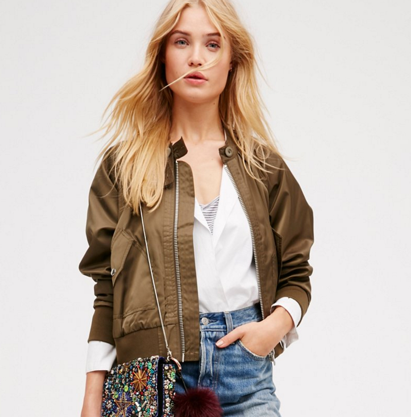 Free People midnight bomber