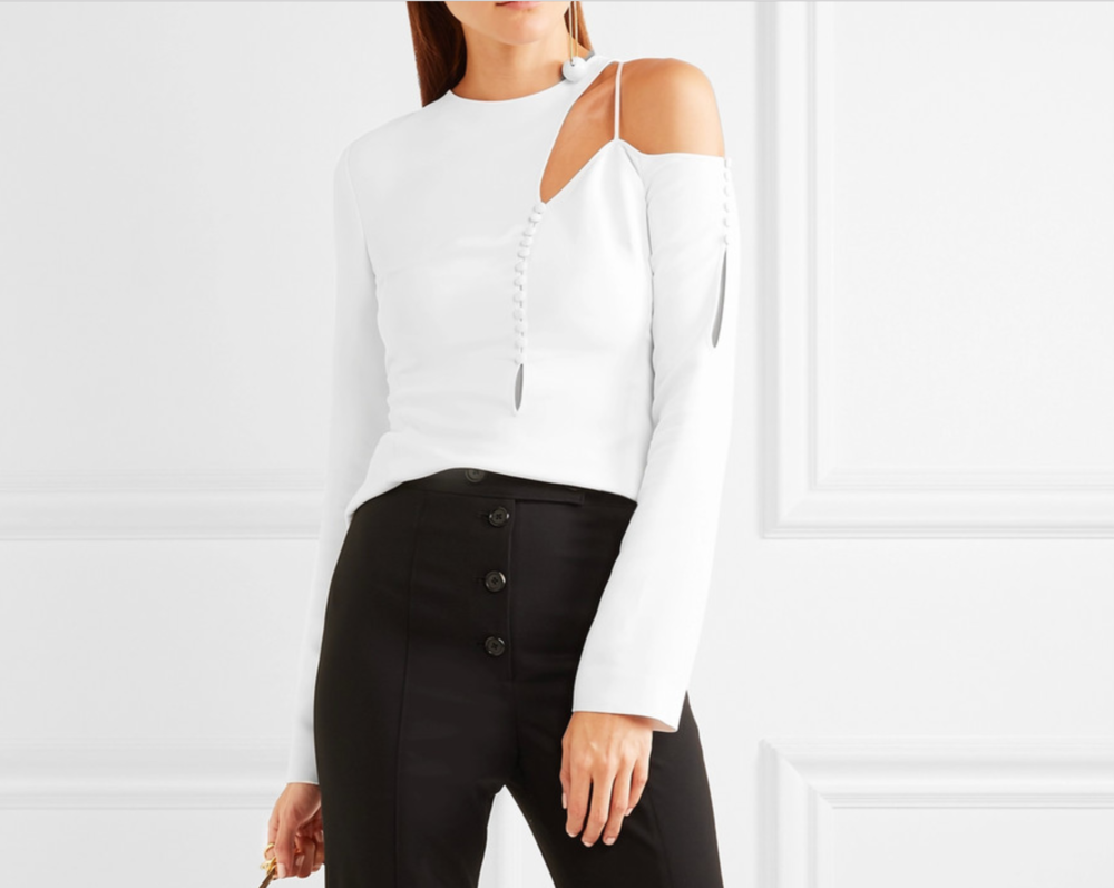 Antonio Berardi cut out stretch cady top