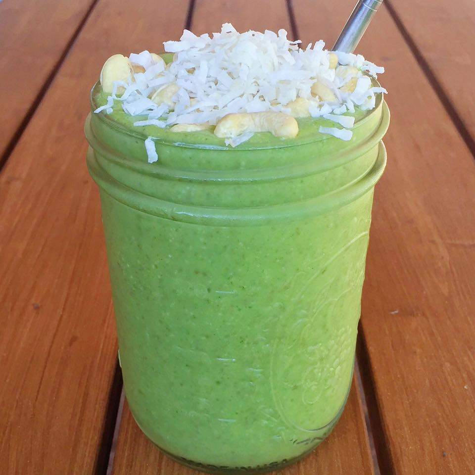 Green Pina Colada Smoothie - Green Superfood Smoothie