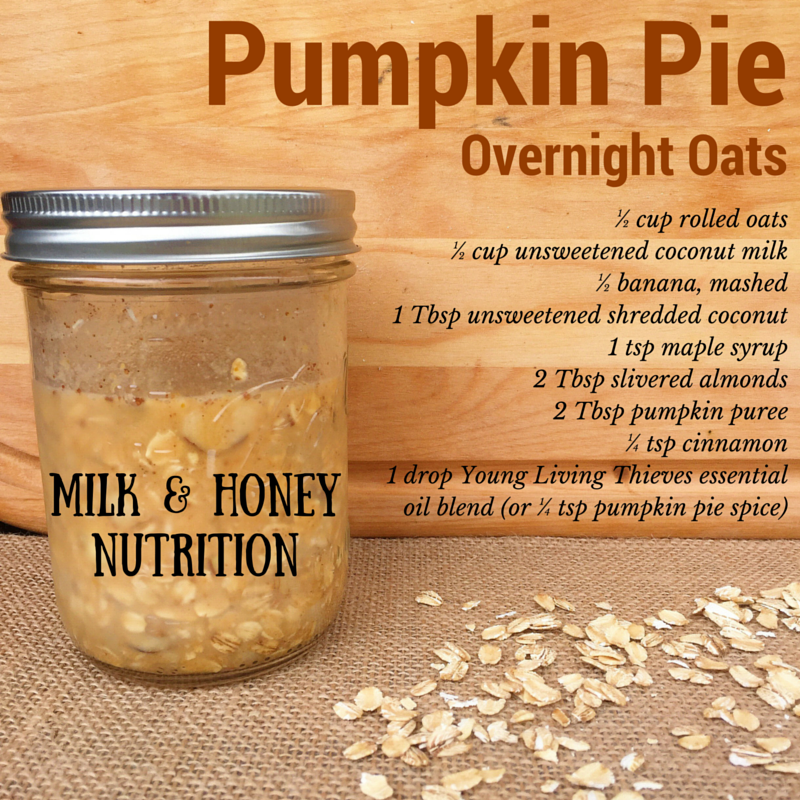 Overnight Oats - Pumpkin Pie and Chocolate Peppermint Recipes