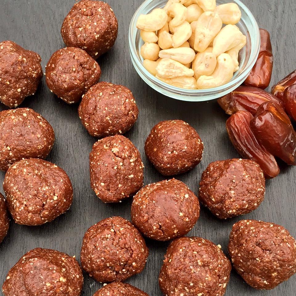Nutty Chocolate No Bake Energy Bites