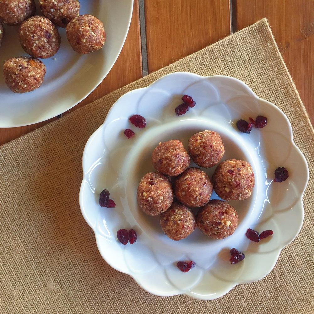 Cranberry Coconut Energy Bites