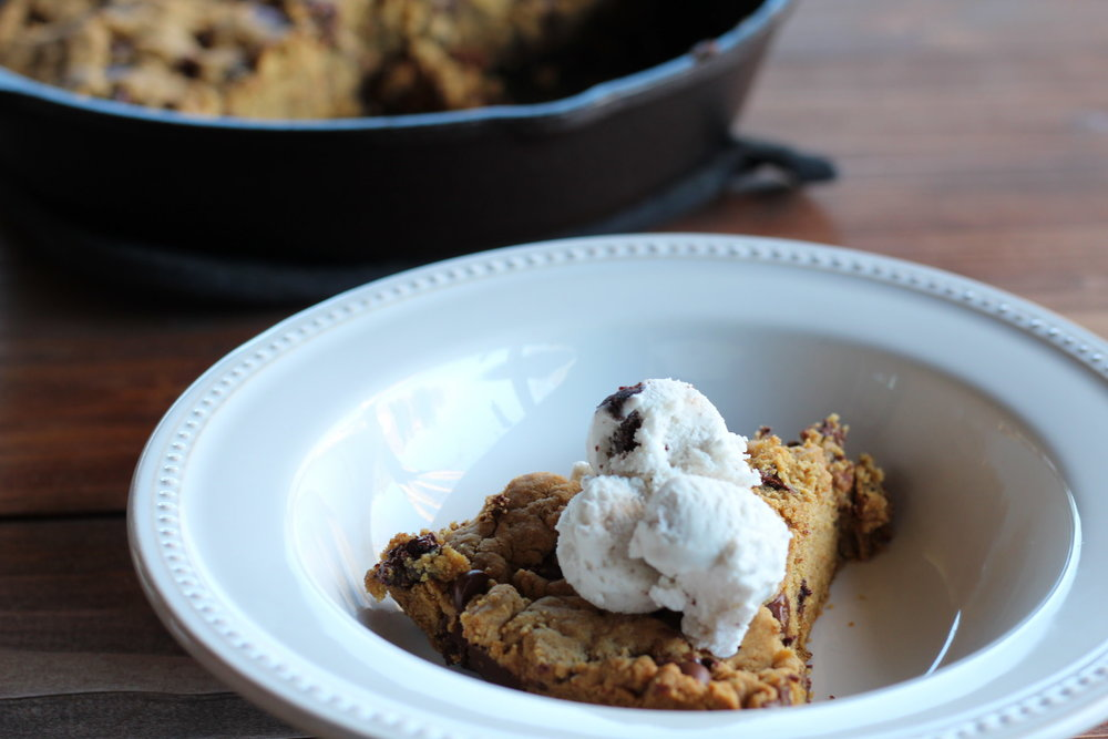 Vegan, Gluten Free Chocolate Chip Cookie Pie